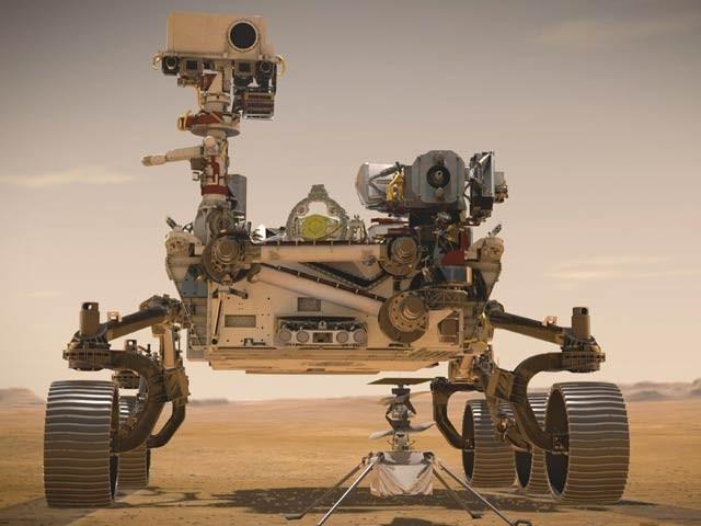 ناسا کے جدید مریخی جہاز پر پہلی مرتبہ ہیلی کاپٹر بھی موجود ہوگا۔ فوٹو: ناسا جے پی ایل