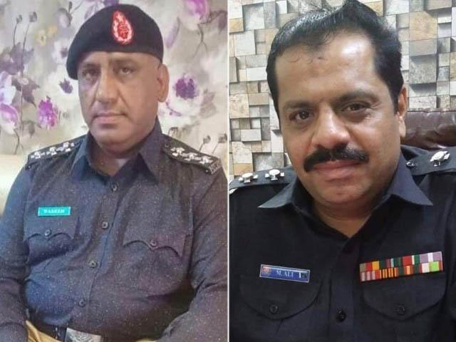 دونوں افسران نے لاکھوں روپے رشوت لے کر دو نائجیرین باشندوں کو ایک شخص کے حوالے کردیا (فوٹو : سندھ پولیس)