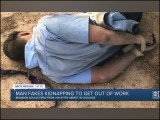 نوجوان نے بتایا کہ دو نقاب پوشوں نے اسے اغوا کرلیا ہے جو اس کے ہاتھ پیر باندھ کر کسی ویران جگہ پر پھینک کر چلے گئے ہیں۔ (فوٹو: یوٹیوب اسکرین گریب)