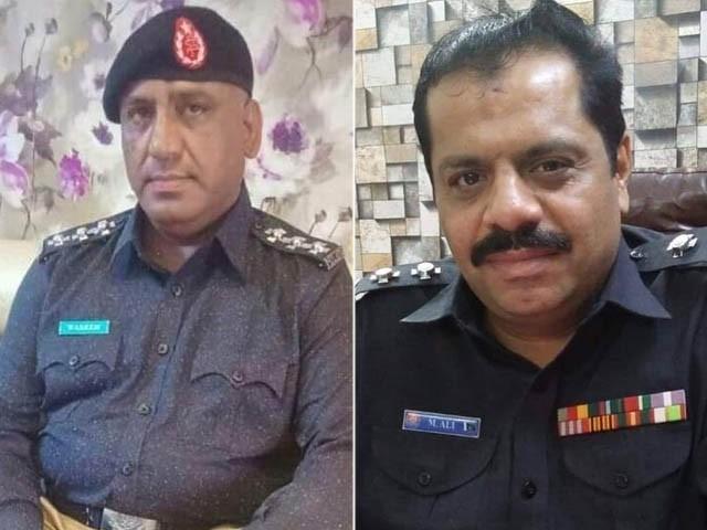 پولیس افسران نے دو غیر ملکی باشندوں کے عوض 50 لاکھ روپے سے زائد وصول کیے، پولیس رپورٹ (فوٹو : سندھ پولیس)