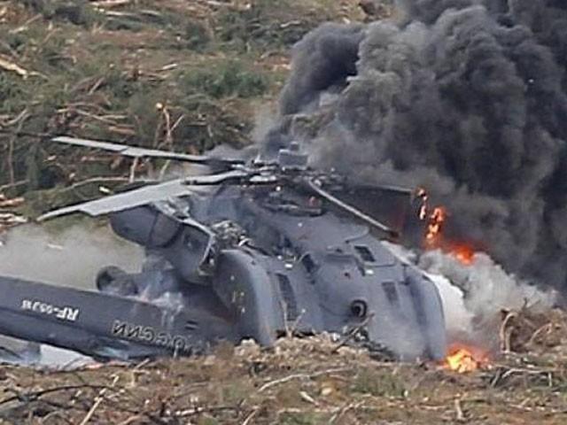 ہیلی کاپٹر میں روسی فوج کے دو افراد سوار تھے، فوٹو : فائل