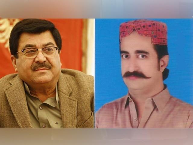 اسلم ابڑو اور شہریار شر نے سینیٹ انتخابات میں پیپلز پارٹی کے امیدواروں کو ووٹ دیا تھا فوٹو: فائل