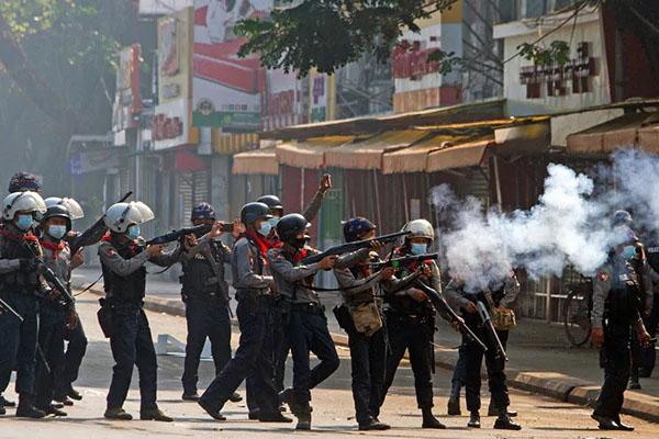 Mayanmar Protestor