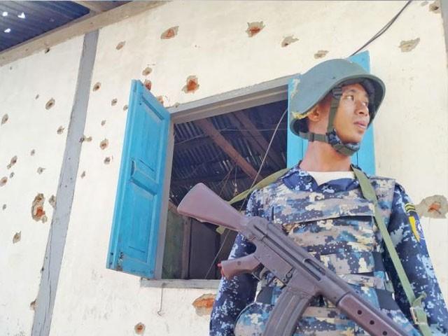 تھانے پر حملہ عسکریت پسند باغی جماعتوں کے اتحاد نے کیا، فوٹو: میانمار ٹائمز