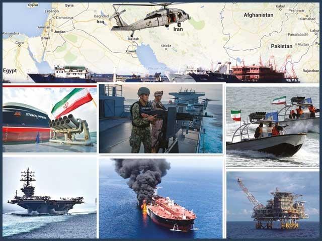 ایران کا مقابلہ یہاں امریکا، فرانس، برطانیہ کے ساتھ رہا ہے جو متحدہ عرب امارات، عمان، سعودی عرب کی پشت پناہی کرتے ہیں۔فوٹو : فائل