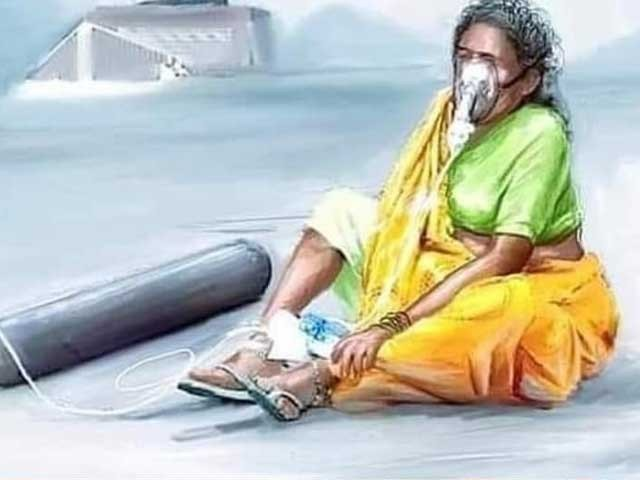 ہماری دعائیں بھارت کے ساتھ ہیں۔ فوٹو: سوشل میڈیا