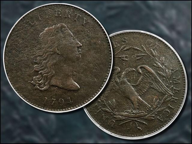 یہ سب سے پہلے امریکی ڈالر کا پروٹوٹائپ ہے جسے 1794 میں فلاڈلفیا کی سرکاری ٹکسال میں ڈھالا گیا تھا۔ (فوٹو: ہیریٹیج آکشنز)