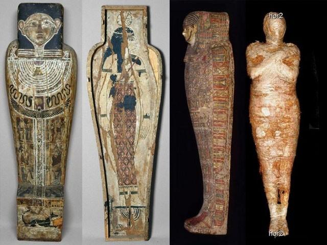 ممی ایک بیس سے تیس سالہ بلند مرتبہ مصری خاتون کی ہے (فوٹو: بشکریہ وارسو ممی پراجیکٹ)