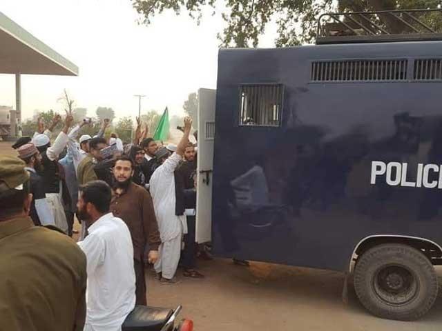 ملزمان کو سعد رضوی کی گرفتاری کے بعد شہر میں ہنگامہ آرائی کے الزام میں گرفتار کیا گیا تھا