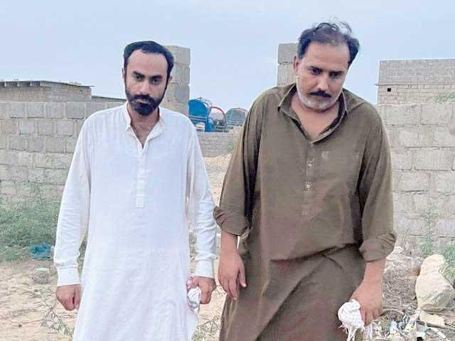 محسن مری اورذوالفقاروسان کو23 اپریل کواغواکرکے رہائی کیلیے5 کروڑ تاوان طلب کیاگیاتھا،ایس ایس پی عبداللہ احمد۔  فوٹو : ایکسپریس