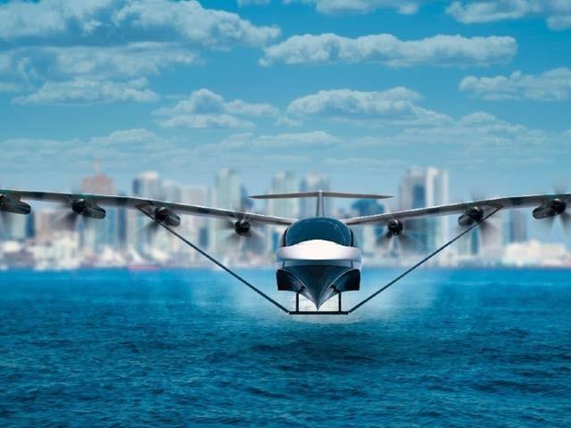 سی گلائیڈر جدید ترین برقی بحری طیارہ ہے جو 180 میل فی گھنٹہ کی رفتار سے پرواز کرسکتا ہے۔ فوٹو: نیو اٹلس