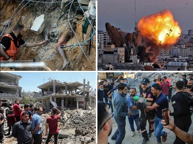شہداء میں 31 بچے اور 9 خواتین شامل، 950 افراد زخمی، لوگوں کی نقل مکانی شروع، ہر طرف ملبے کا ڈھیر