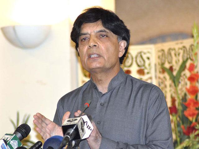 چوہدری نثار علی خان راولپنڈی سے آزاد حیثیت سے رکن پنجاب اسمبلی منتخب ہوئے۔ فوٹو:فائل