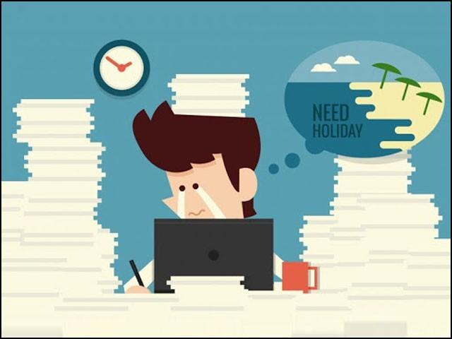 عالمی ادارہ صحت کی تجویز ہے کہ ملازمت کے اوقات کم کرتے ہوئے ملازمین کو اوور ٹائم کرنے پر مجبور نہ کیا جائے۔ (فوٹو: انٹرنیٹ)