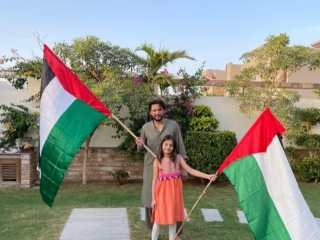Shahid Afridi also came out in support of the Palestinians
