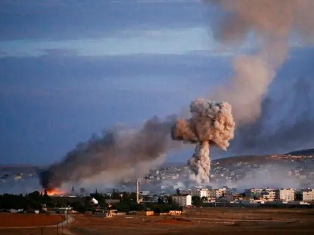 اسرائیلی طیاروں نے لبنان سے پرواز بھر کر دمشق پر بمباری کی، فوٹو: فائل