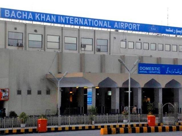 کورونا وائرس کی شناخت کرنے والے تربیت یافتہ  کتوں کو گزشتہ ماہ باچا خان ہوائی اڈے پر تعینات  کیا گیا تھا۔(فوٹو:فائل)