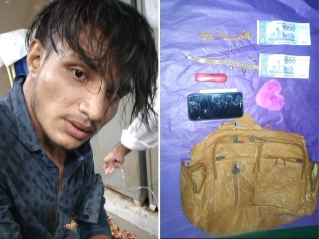 ویڈیو وائرل ہونے کے بعد پولیس نے ملزم کو گرفتار کرکے سامان برآمد کرلیا (فوٹو : راولپنڈی پولیس)