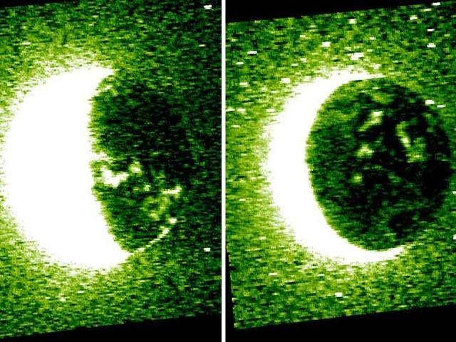متحدہ عرب امارات کے مریخی خلائی جہاز نے نایاب مریخی روشنیوں (ارورا) کی تصاویر جاری کی ہیں۔ فوٹو: بشکریہ اماراتی مریخی مشن