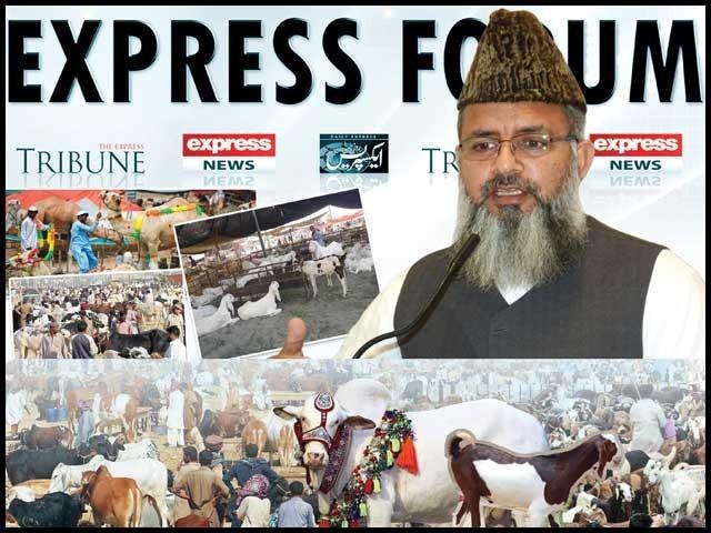 سوشل میڈیا پر قربانی کے جانور کی نمود ونمائش خسارے کا سودا ہے، مہتمم جامعہ نعیمیہ لاہور ڈاکٹر محمد راغب حسین نعیمی۔ فوٹو: ایکسپریس