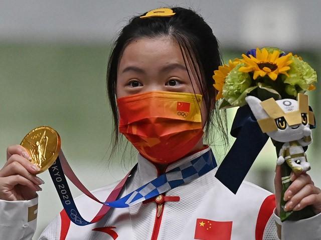 چین 3 گولڈ اور ایک برانز میڈل جیت کر سب سے آگے ہے، فوٹو:اے ایف پی
