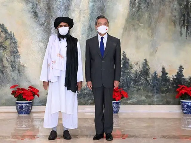 طالبان وفد کی سربراہی ملا عبدالغنی برادر نے کی، فوٹو: رائٹرز