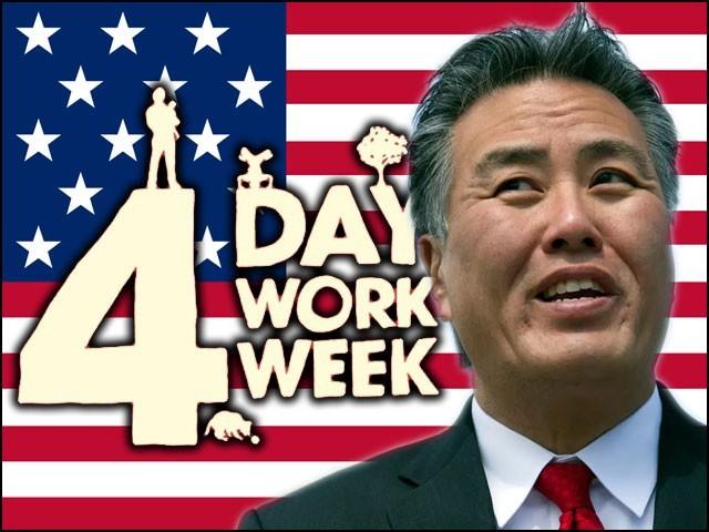امریکی رکن کانگریس مارک ٹکانو نے ہفتے میں تین چھٹیوں اور چار دن کام کےلیے قانون کا مسودہ پیش کردیا ہے۔ (فوٹو: فائل)