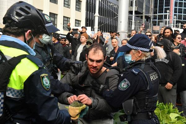 Protest in australia for covid SPO 2