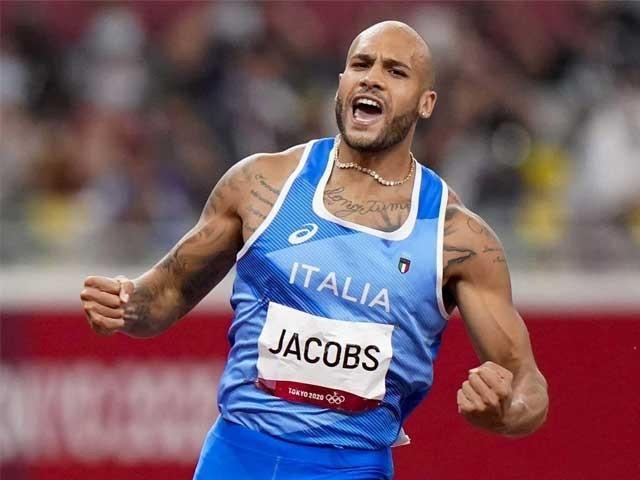 ویمنز 100 میٹر ہرڈلز میں جیسمین کا نیا اولمپک ریکارڈ ۔  فوٹو : انٹرنیٹ