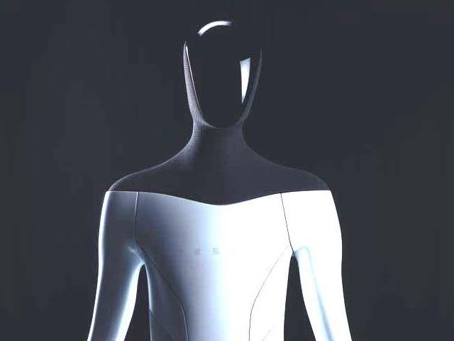 ٹیسلا کمپنی نے انسان نما روبوٹ آپٹیمس کا اعلان کیا ہے جو اگلے سال پیش کیا جائے گا۔ فوٹو: بشکریہ ٹیسلا