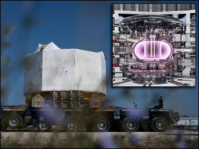 ''سینٹرل سولینوئیڈ'' کہلانے والا یہ مقناطیس 14 فٹ چوڑا اور 60 فٹ اونچا ہے جو سپر کنڈکٹر استعمال کرتے ہوئے زبردست مقناطیسی قوت پیدا کرسکتا ہے۔ (فوٹو: انٹرنیٹ)