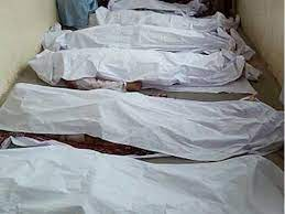 جاں بحق افراد کی لاشوں اور زخمیوں کو ڈسٹرکٹ ہیڈ کوارٹراسپتال تیمر گرہ منتقل کردیا گیا ہے، پولیس۔(فوٹو: فائل)