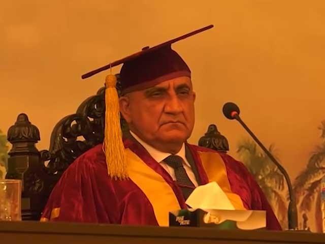 ہمارے نوجوانوں کو پاکستان کو نئی بلندیوں پر لے جانے کے لیے اہم کردار ادا کرنا چاہیے، جنرل قمر جاوید باجوہ . فوٹو : اسکرین گریب