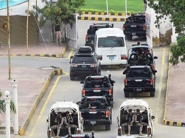 نیو اسلام آباد انٹرنیشنل ائیرپورٹ پر ٹیم کی واپسی کے لیے انتظامات اسپیشل برانچ نے سنبھال لیے۔ فوٹو:فائل