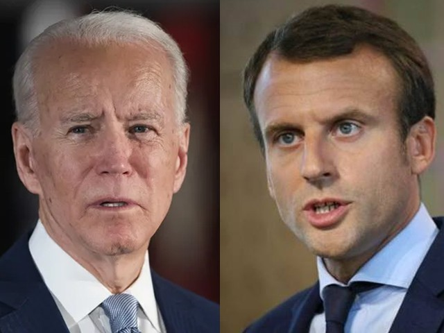 امریکی صدر بائیڈن نے فرانسیسی صدر ایمانوئیل میکرون کو ٹیلی فون کیا تھا