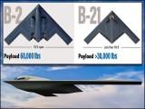 بی 21 کو ریڈار پر نہیں دیکھا جاسکے گا جبکہ یہ جدید ترین آلات کے علاوہ ایٹم بموں سے بھی لیس ہوگا۔ (تصاویر: نارتھروپ گرومین)