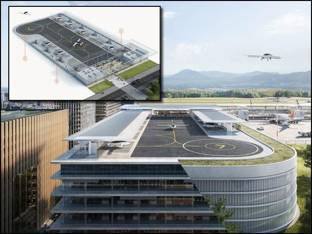 اُڑن ٹیکسیاں کسی ہیلی کاپٹر کی طرح بالکل سیدھی ہوا میں بلند ہوتی اور اترتی ہیں یعنی انہیں رن وے کی ضرورت نہیں ہوتی۔ (فوٹو: انٹرنیٹ)