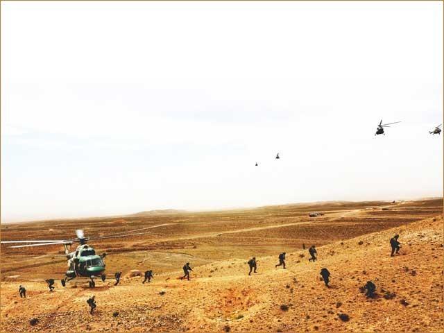 فوجی مشقوں کا مقصد انسداد دہشت گردی کی عالمی سطح پر کوششوں کے لیے تعاون بڑھانا تھا . فوٹو : فائل