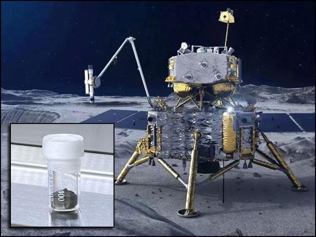 چینی خلائی مشن 'چانگ ای 5' سے زمین پر لائے گئے چاند کے پتھروں کے نمونے صرف دو ارب سال قدیم ثابت ہوئے ہیں۔ (فوٹو: چائنا میڈیا)