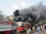 آگ بس اڈے سے متصل پٹاخوں کے گودام میں لگی، فائر بریگیڈ حکام۔ فوٹو:فائل