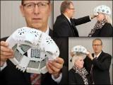 یہ ہیلمٹ دماغی خلیوں تک براہِ راست توانائی پہنچا کر ان کی کارکردگی اور کیفیت بہتر بناتا ہے۔ (تصاویر: ڈرہام یونیورسٹی)