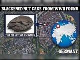 یہ کیک دوسری جنگ عظیم کے دوران فضائی حملوں میں تباہ ہونے والے شہر لوبیک میں واقع گھر کے تہہ خانے سے ملا ہے۔( فوٹو: بشکریہ ڈیلی میل)