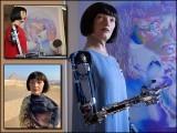 'اے-ڈا' کسی خاتون جیسی دکھائی دینے والی ایک روبوٹ ہے جو اپنے مشینی ہاتھوں سے تصویریں بناتی ہے۔ (فوٹو: سوشل میڈیا)